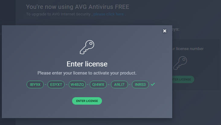 Active Avg internet security 2018