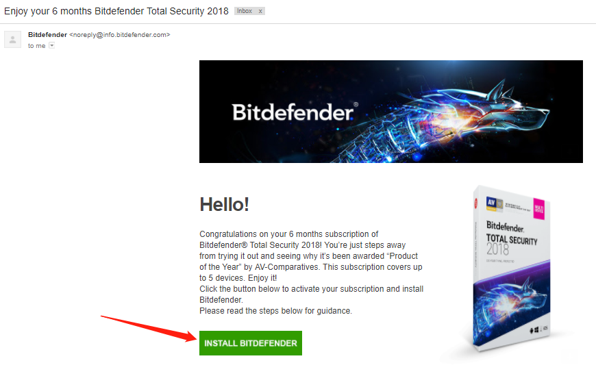 Key bitdefender total security 2018