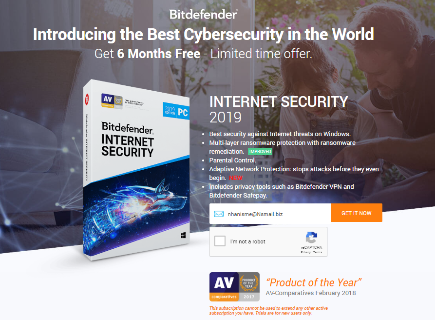 Free Bitdefender Internet Security 2019