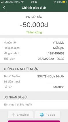 bằng chứng bán tài khoản netflix uy tín